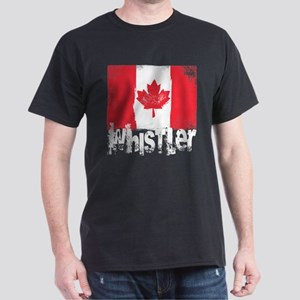 Whistler Grunge Flag Dark T-Shirt